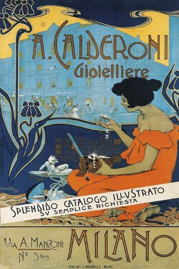 Jeweller A. Calderoni (A. Calderoni Gioiellier), Milano, 1898-Adolfo Hohenstein-Giclee Print