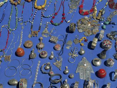 Jewellery Laid Out for Sale, Boumalne Du Dades Market, Morocco, North Africa, Africa-Harding Robert-Photographic Print