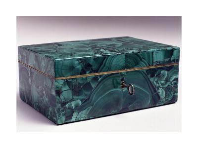 Jewelry Box Covered with Malachite, Ca 1840, Russia--Giclee Print