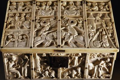 Jewelry Box with Roman and Allegorical Subjects, Ivory Decorated in Relief--Giclee Print