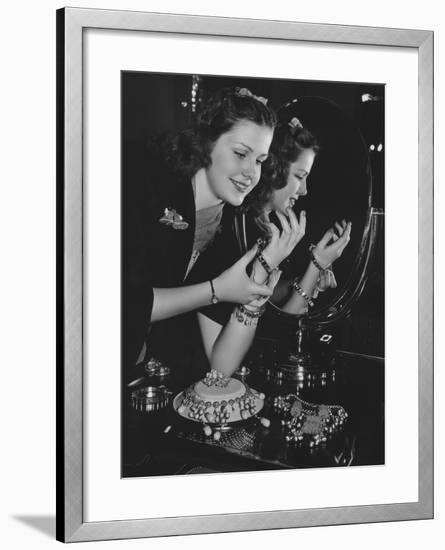 Jewelry Fanatic--Framed Photo