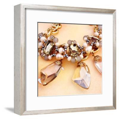 Jewels on Watercolor C-THE Studio-Framed Premium Giclee Print