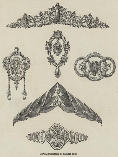 Jewels Presented to Madame Grisi--Giclee Print