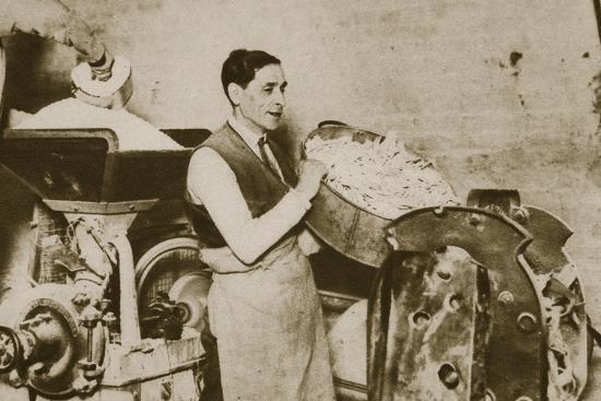 Jewish bakery preparing unleavened bread for Passover, 20th century-Unknown-Photographic Print
