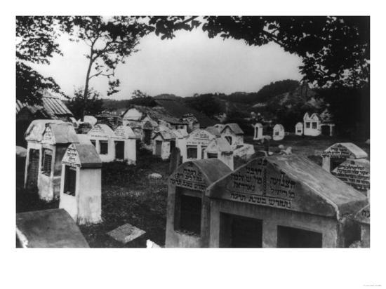 Jewish Cemetery in Russia Photograph - Vilna, Russia-Lantern Press-Art Print