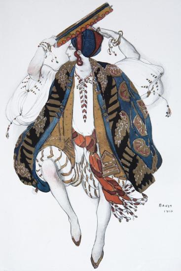 Jewish Dance. Costume Design for the Ballet Cléopatre, 1910-L?on Bakst-Giclee Print