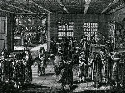 Jewish Engagement Celebration, from the 'Judisches Ceremoniel', by Paul Christian Kirchner, 1726--Giclee Print