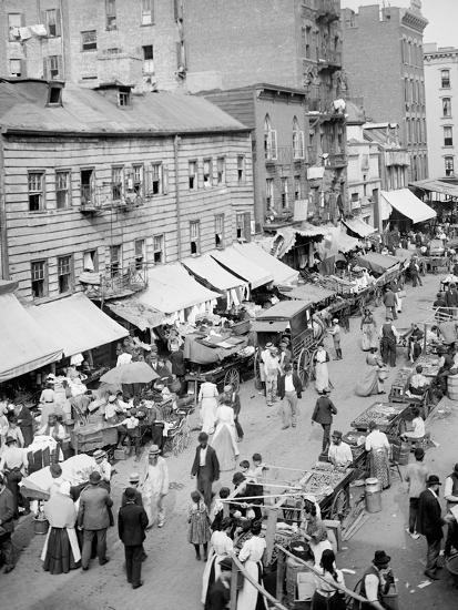 Jewish Market on the East Side, New York, N.Y.--Photo