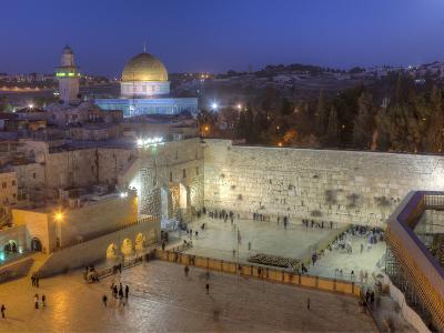 Jewish Quarter of Western Wall Plaza, Old City, UNESCO World Heritge Site, Jerusalem, Israel-Gavin Hellier-Photographic Print