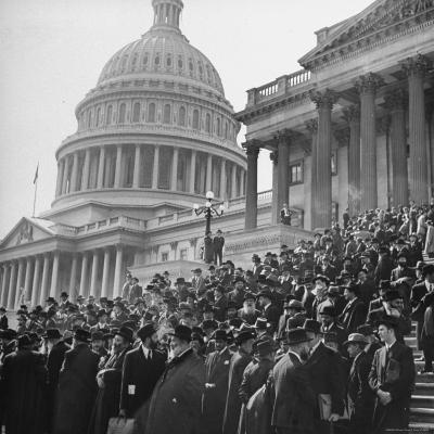 Jewish Rabbis March on Washington, on the Senate Steps-Thomas D^ Mcavoy-Photographic Print