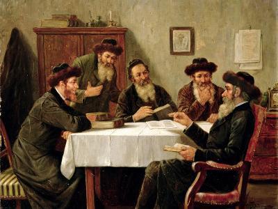 Jewish Scholars Debating-Josef Johann Suss-Giclee Print