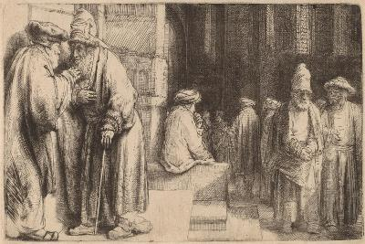 Jews in the Synagogue, 1648-Rembrandt van Rijn-Giclee Print