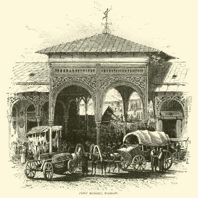Jews' Market, Warsaw--Giclee Print