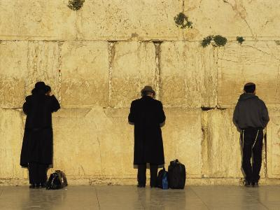 Jews Pray at the Western Wall-Annie Griffiths Belt-Photographic Print