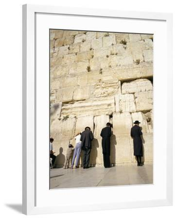 Jews Praying at the Western Wall, Jerusalem, Israel, Middle East-Adrian Neville-Framed Photographic Print