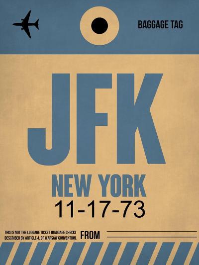 JFK New York Luggage Tag 2-NaxArt-Art Print