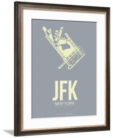Jfk New York Poster 1-NaxArt-Framed Art Print
