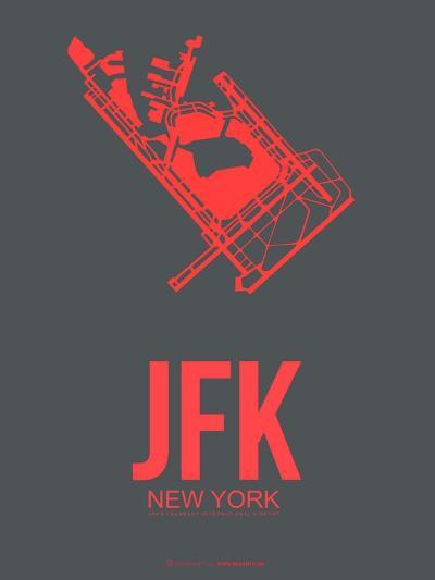 Jfk New York Poster 2-NaxArt-Art Print