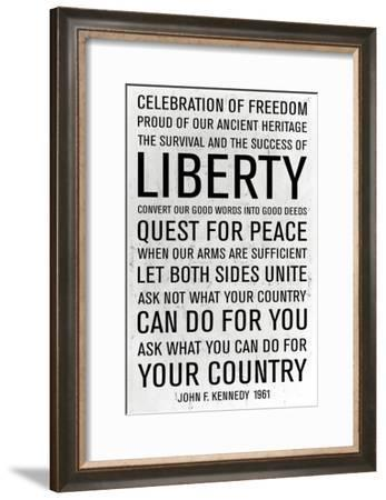 JFK Speech-Anna Polanski-Framed Art Print
