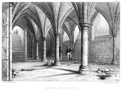 Gerard's Hall Crypt, City of London, 1886