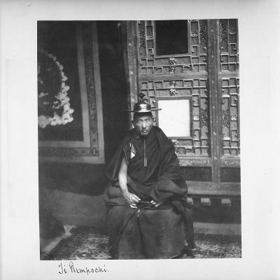 Ji Rimpochi, Tibet, 1903-04-John Claude White-Giclee Print