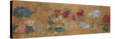 Sprays of Blossoming Prunus, Chrysanthemums, Peonies, Hydrangea, Lotus, Further Flowers and Foliage