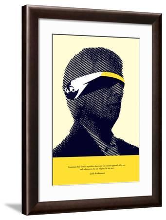 Jiddu Krishnamurti Truth--Framed Art Print