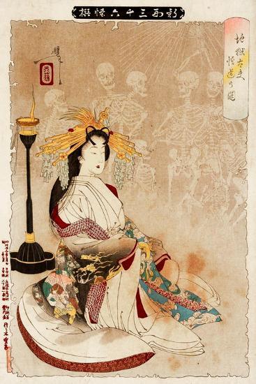 Jigoku Dayu - Courtesan from Hell, Thirty-Six Transformations-Yoshitoshi Tsukioka-Giclee Print