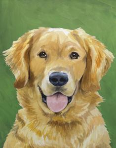 Dog Portrait, Golden by Jill Sands