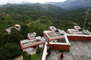 Thrangu Tashi Yangtse Monastery at the Pilgrimage Site Namo Buddha by Jill Schneider