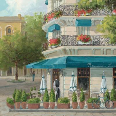 French Blue Café 2 by Jill Schultz McGannon