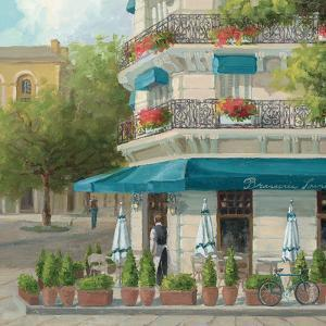 French Blue Café 2 by Jill Schultz McGannon