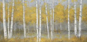 Golden Birch Panel by Jill Schultz McGannon