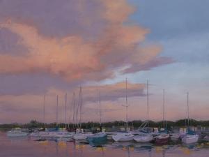 Marina Sunset by Jill Schultz McGannon
