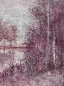 Shimmering Plum Landscape 2 by Jill Schultz McGannon