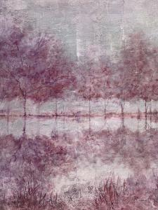 Shimmering Plum Landscape I by Jill Schultz McGannon