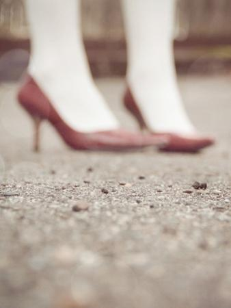 Blurred Image of Ladies Shoes