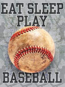 Eat Sleep Play Baseball by Jim Baldwin