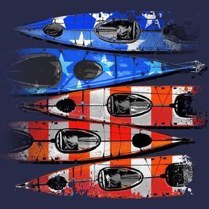 Flag Kayaks by Jim Baldwin