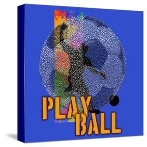 Play Ball - Soccer (Blue) by Jim Baldwin