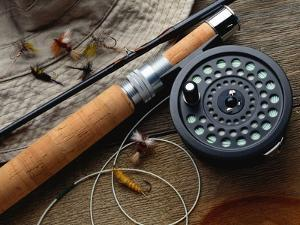 Fishing Reel and Lures by Jim Barber