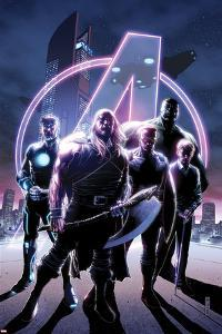 Avengers No. 35 Cover, Featuring: Thor, Havok, Falcon Cap, Hulk, Steve Rogers by Jim Cheung