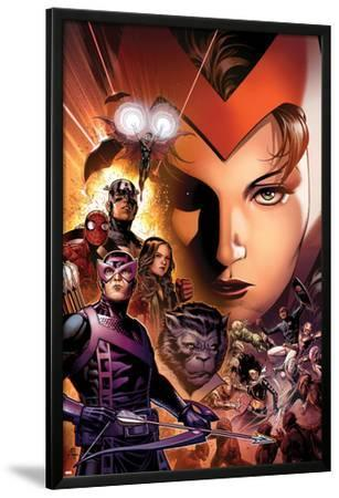 Avengers: The Childrens Crusade No.6 Cover: Scarlet Witch, Hawkeye, Beast, Spider-Man, and Others