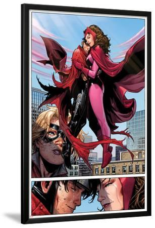 Avengers: The Childrens Crusade No.6: Panels with Scarlet Witch and Wiccan Flying and Hugging