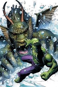 Hulk Vs. Fin Fang Foom No.1 Cover: Hulk and Fin Fang Foom by Jim Cheung