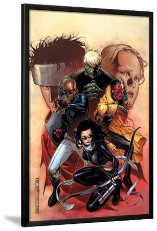 Young Avengers No.9 Cover: Bishop, Kate, Hulkling, Vision and Patriot