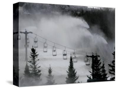 Snow Guns Pump out Man-Made Snow at Bretton Woods Ski Area, New Hampshire, November 20, 2006