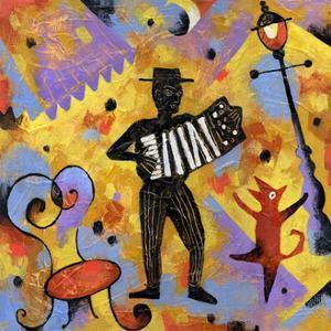 Accordionist by Jim Dryden