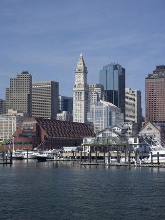 Boston Harbor, Long Wharf, Boston, Massachusetts, New England, Usa