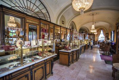 Cafe Gerbeaud Confectionery Interior, Budapest, Hungary